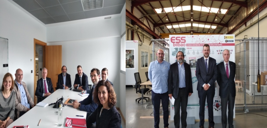 Angel Ibarra and Carlos Alejaldre from CIEMAT visit ESS Bilbao